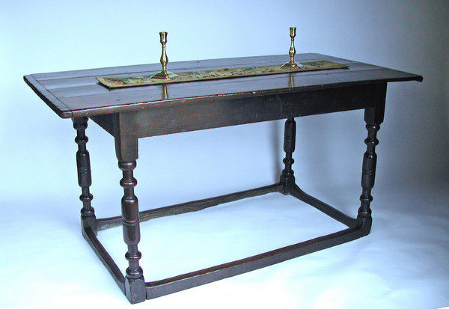 17thc Antique Oak Furniture English Refectory Table. English. C1620-40