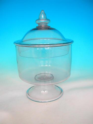 18thc Antique Sweetmeat Jar .   English . C1740-50