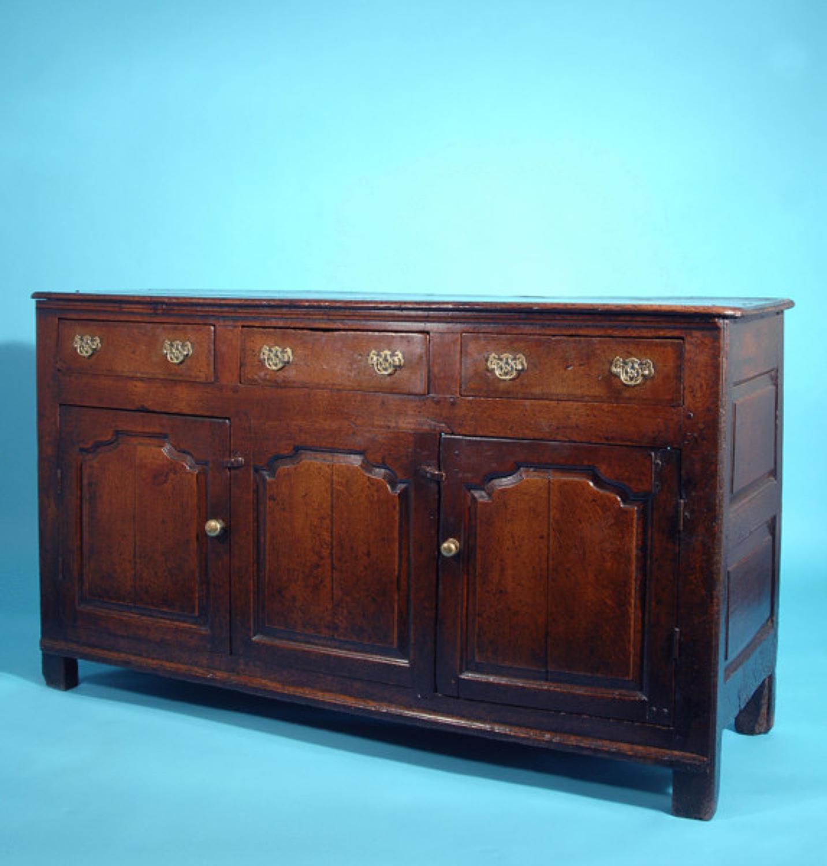 18thc Oak Cupboard Dresser Base.  Welsh  C1780 to C1800