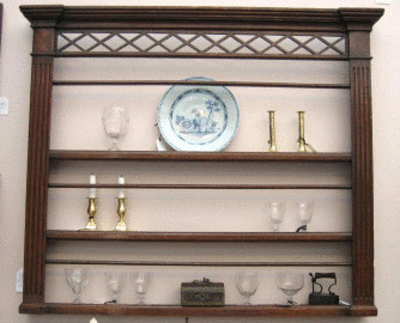 18thc Oak Delft Rack .    English.   C 1780to  C1790