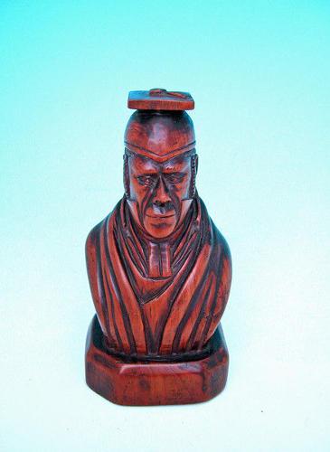 18thc Carved Cedar Figure of a Scholar. English C1780-C1800