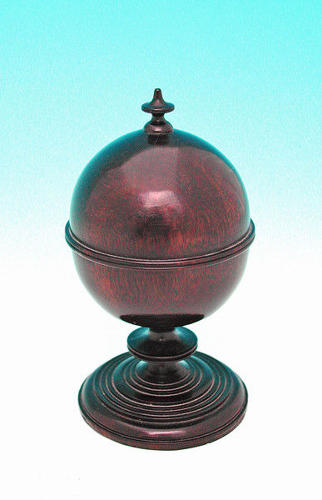18thc Treen Laburnum Spice Pot . English. C1780-C1800