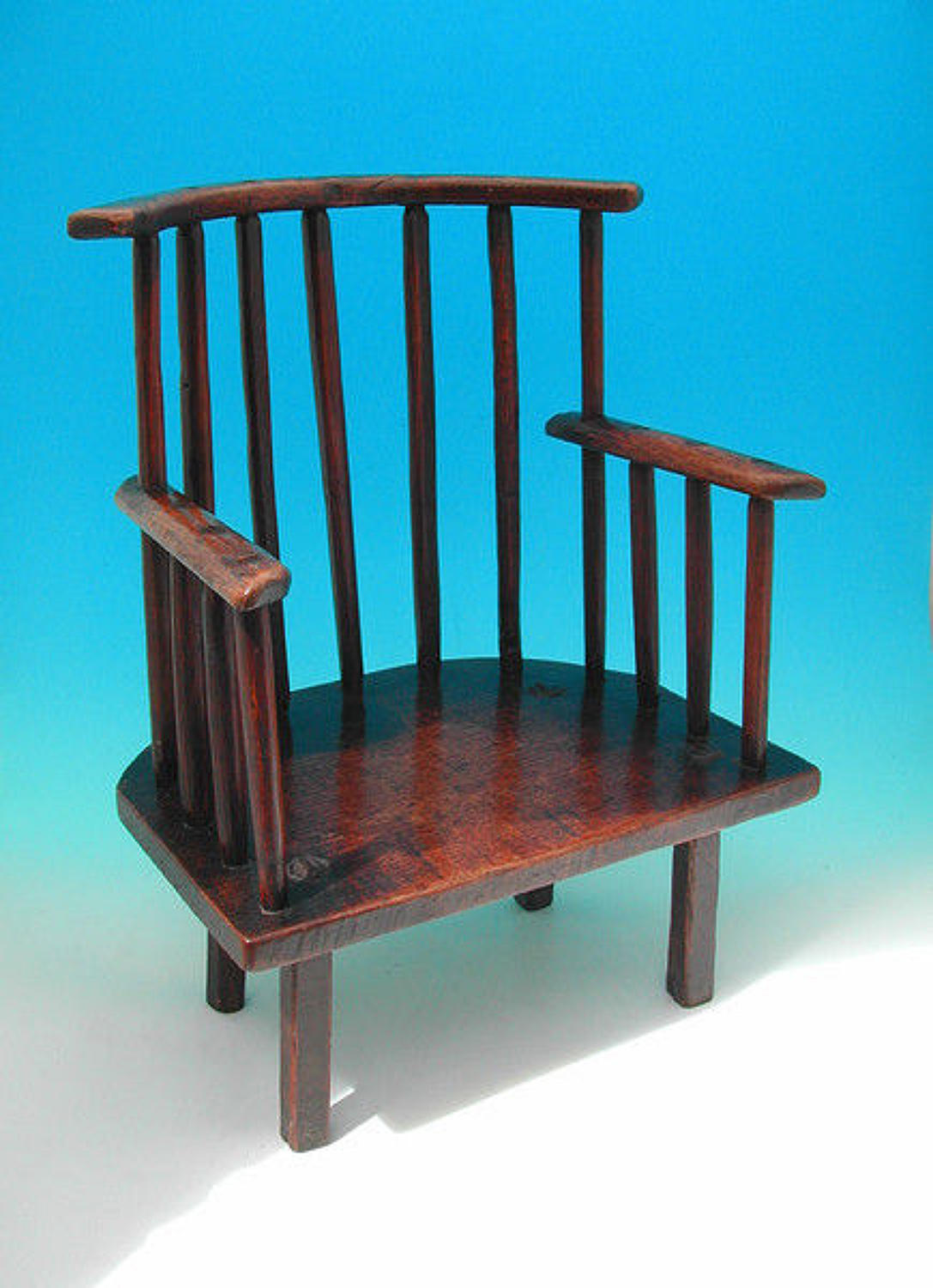 18thc Welsh Comb Back Childs Chair . C1780-C1800