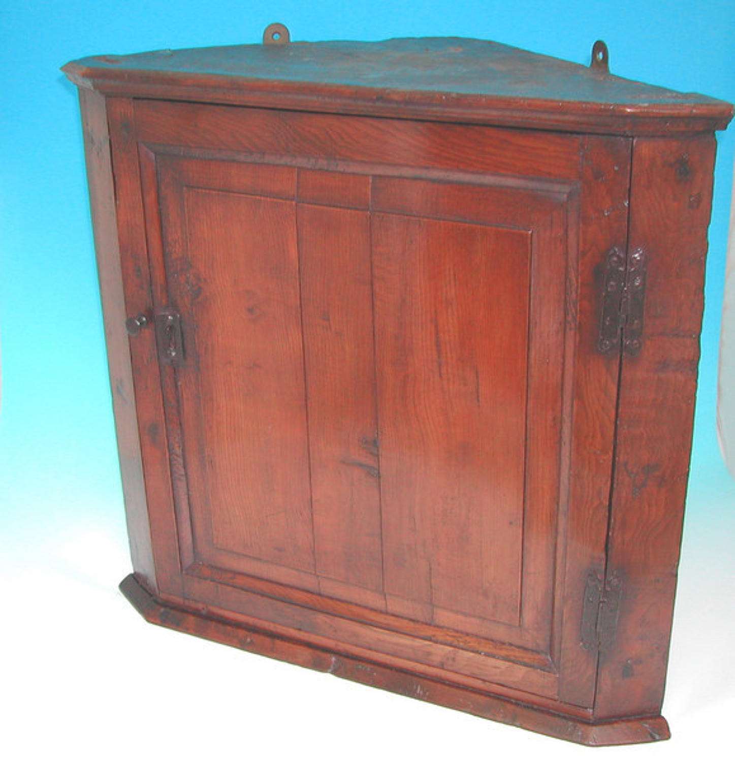 18thc Yew Wood Corner Cupboard .  English. C1730-40