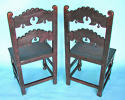 A pair of Antique 17thc Oak Derbyshire Chairs. English. C1660-80 - picture 4