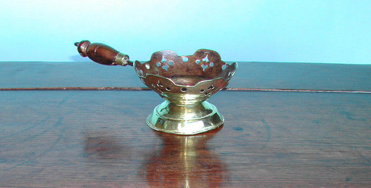 A Rare Antique 18thc Brass Chafing Dish . Dutch. C1720-40