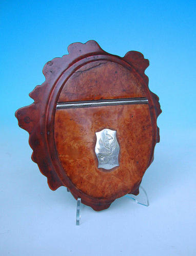 19thc Treen Burr Walnut Table Snuff . Scottish. C1820-40