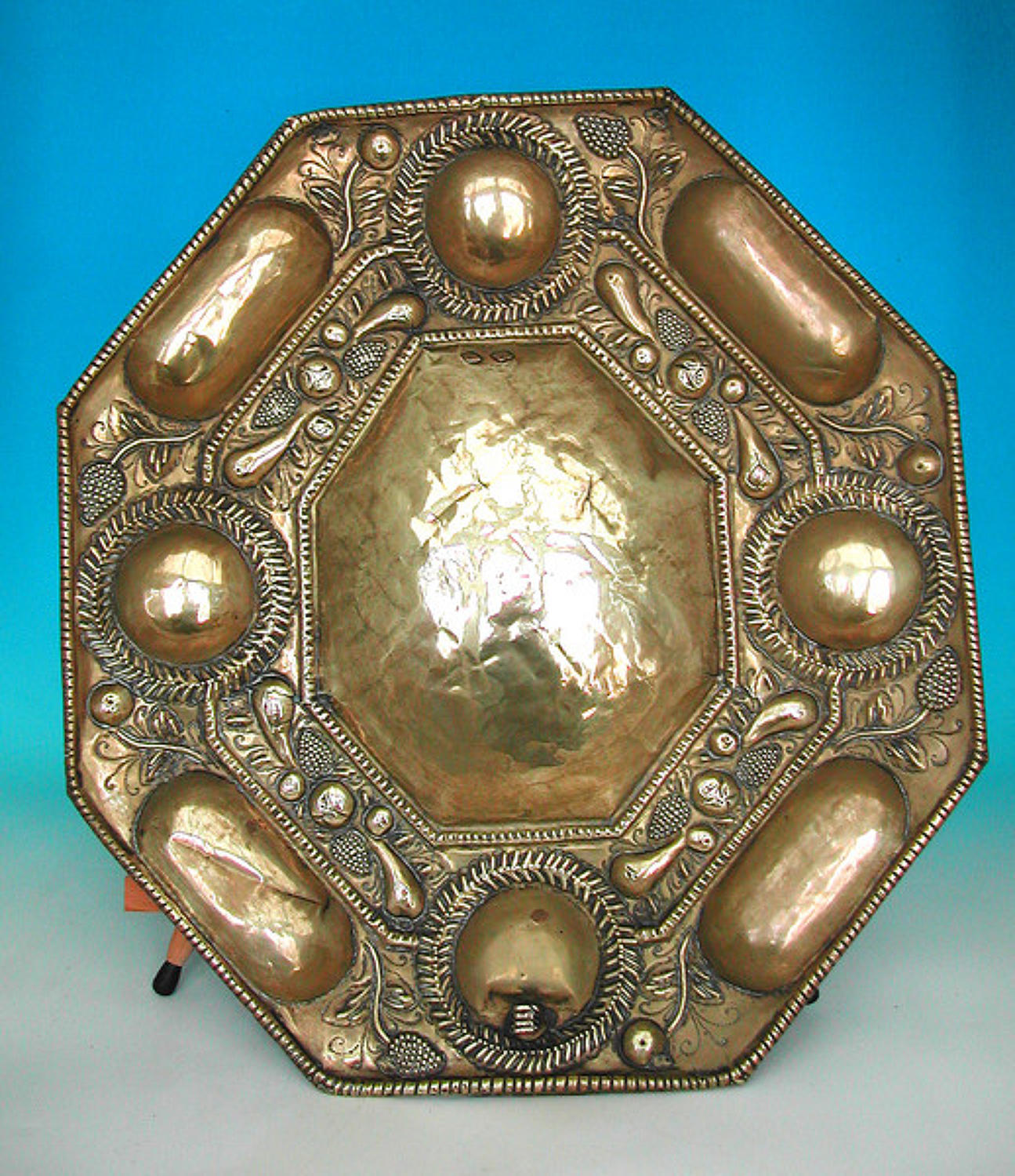 17thc Brass Candle Reflector .  Dutch. C1660-80
