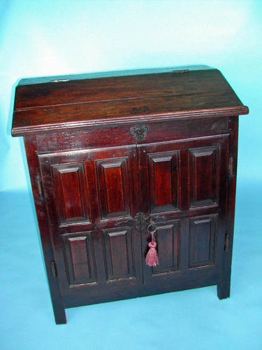 17thc Desk on Cupboard . English. C1680-90.