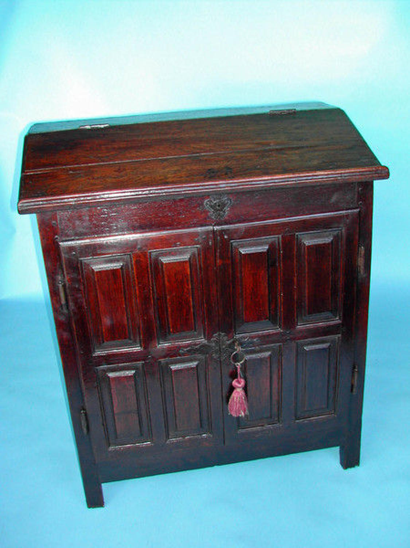 17thc Desk on Cupboard . English. C1680-90.