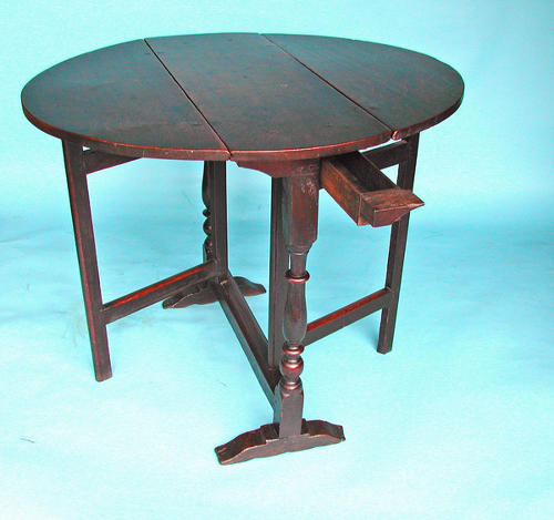 17thc Oak Charles1 Gateleg Table. English. C1620-40