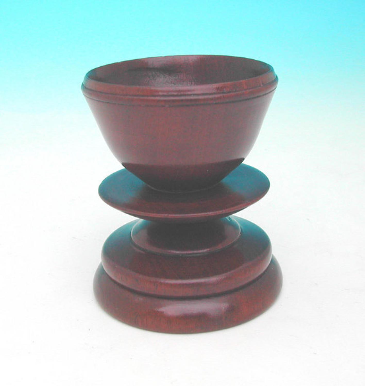 18thc Fruitwood Treen Salt .English. C1780-C1800