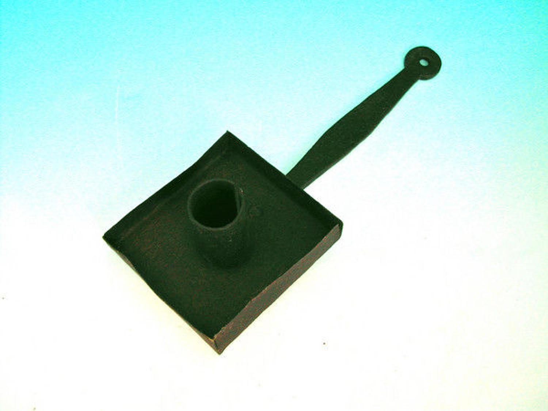 18thc Iron Cellar Candleholder .   English.  C1770-90