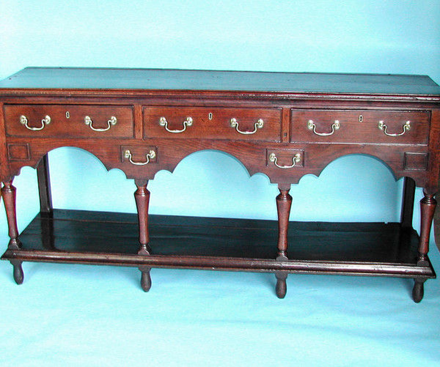 18thc Potboard Dresser Base .  Welsh. C1730-40.