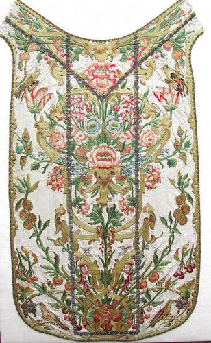 18thc Silk Chasuble. Italian.  C1730-40