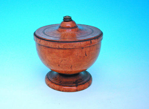 18thc Treen Birch Spice Pot.   Scandinavian  C1760-70.