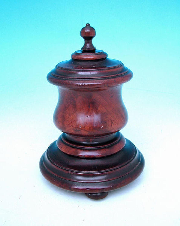 18thc Mahogany Table Snuff . English. C1780-C1800