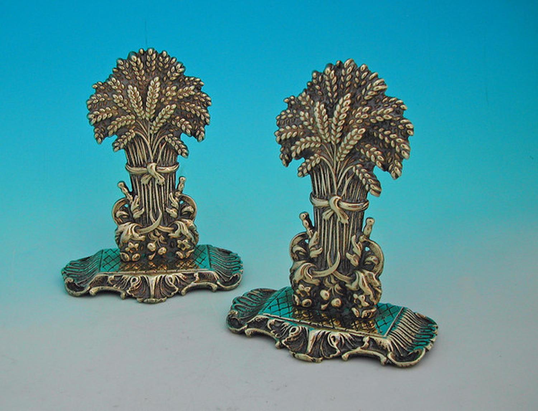 19thc Brass Chimney Ornaments . English. C1860-80