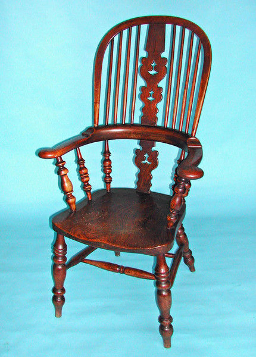 19thc Broad Arm Windsor Chair . English. C1860-80