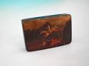 19thc Mauchline Tartan Painted Snuff Box .  Scottish. C1820-40. - picture 2