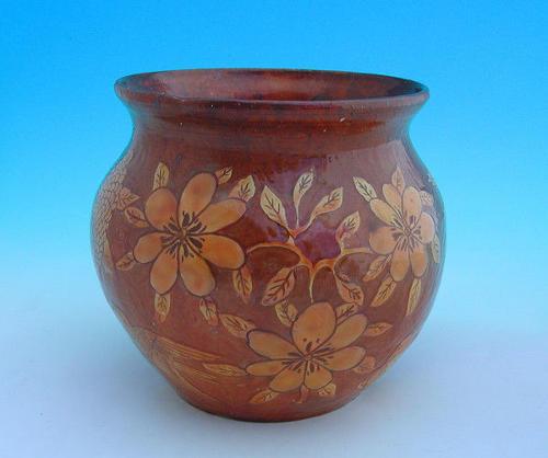 19thc Slipware Pottery Bideford Jardiniere.  English.  C1860-80.