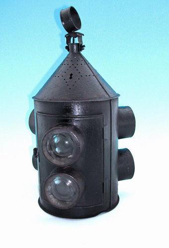 Toleware 19thc Coaching Lamp . English. C1840-60