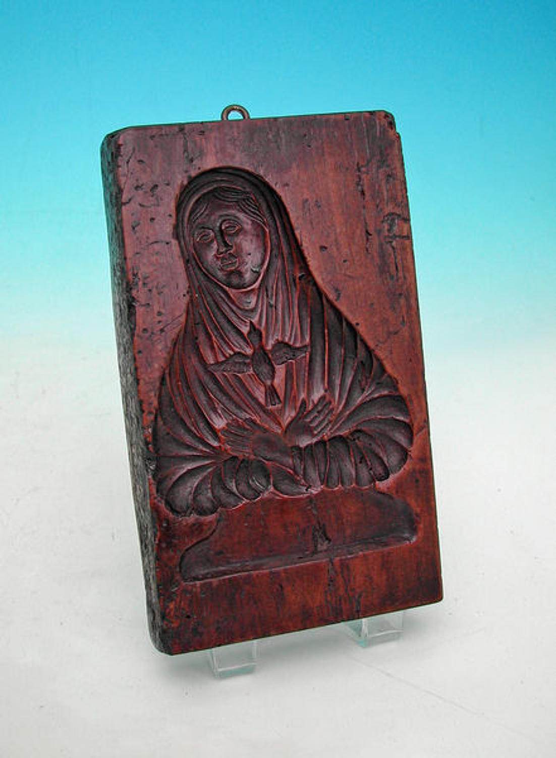 18thc Communion Wafer Mould of the Virgin Mary.  French. C1780-C1800.
