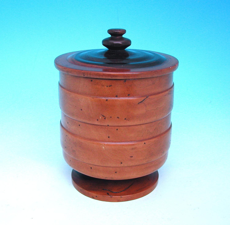 19thc Lignum Vitae Dry Storage Barrel . English. C1800-20.
