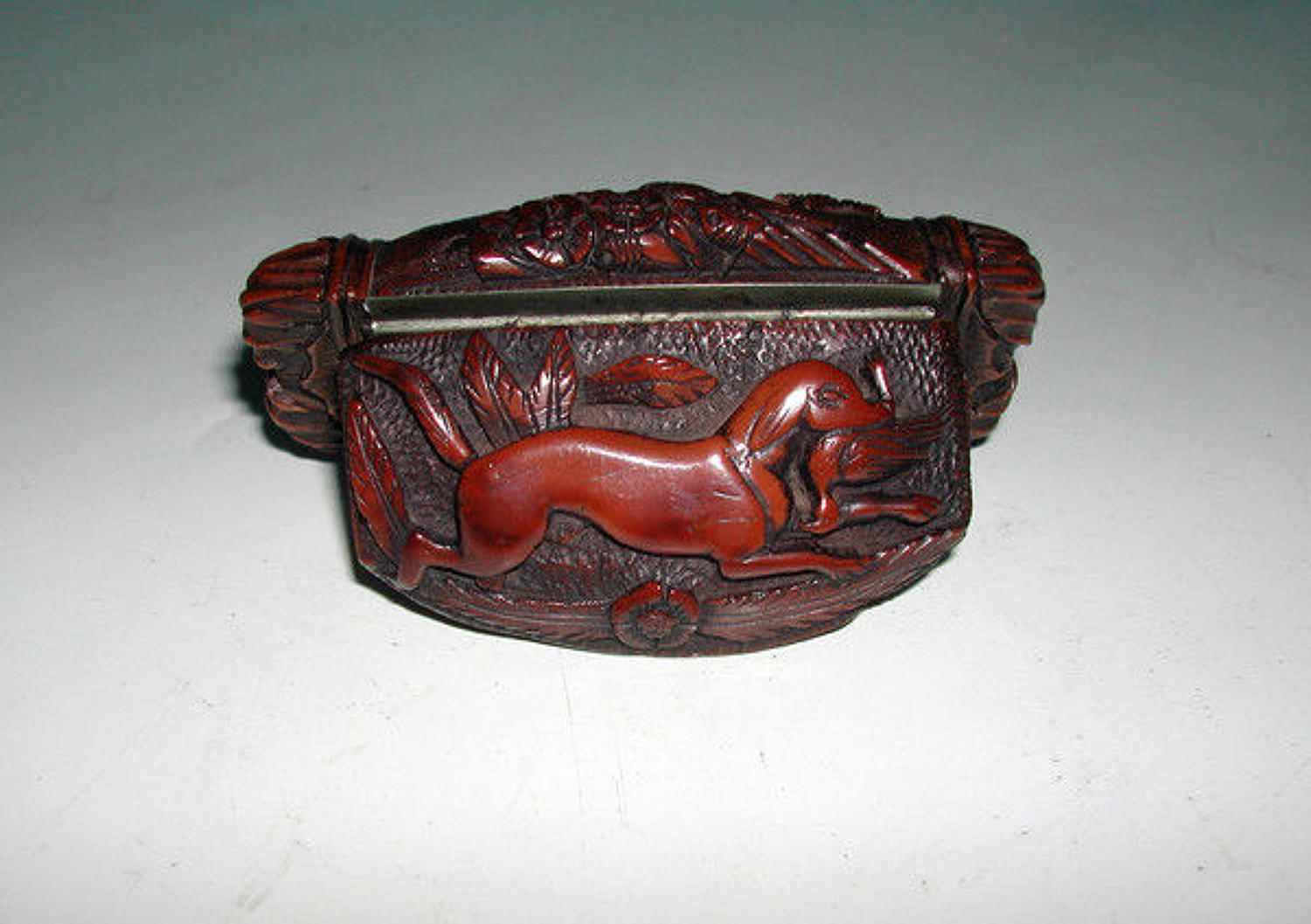 19thc Antique Coquilla Snuff Box . C1820-30