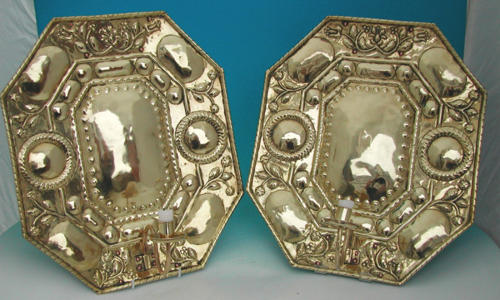 A rare pair of 18thc Wall Reflectors