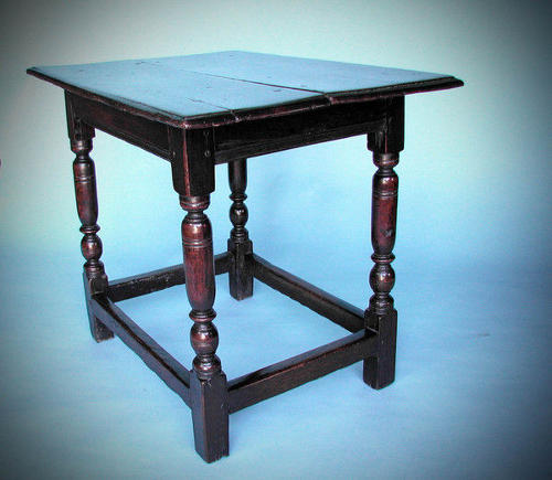 Rare 17thc Charles 1 Antique Oak Centre Table . English. C1620-40.
