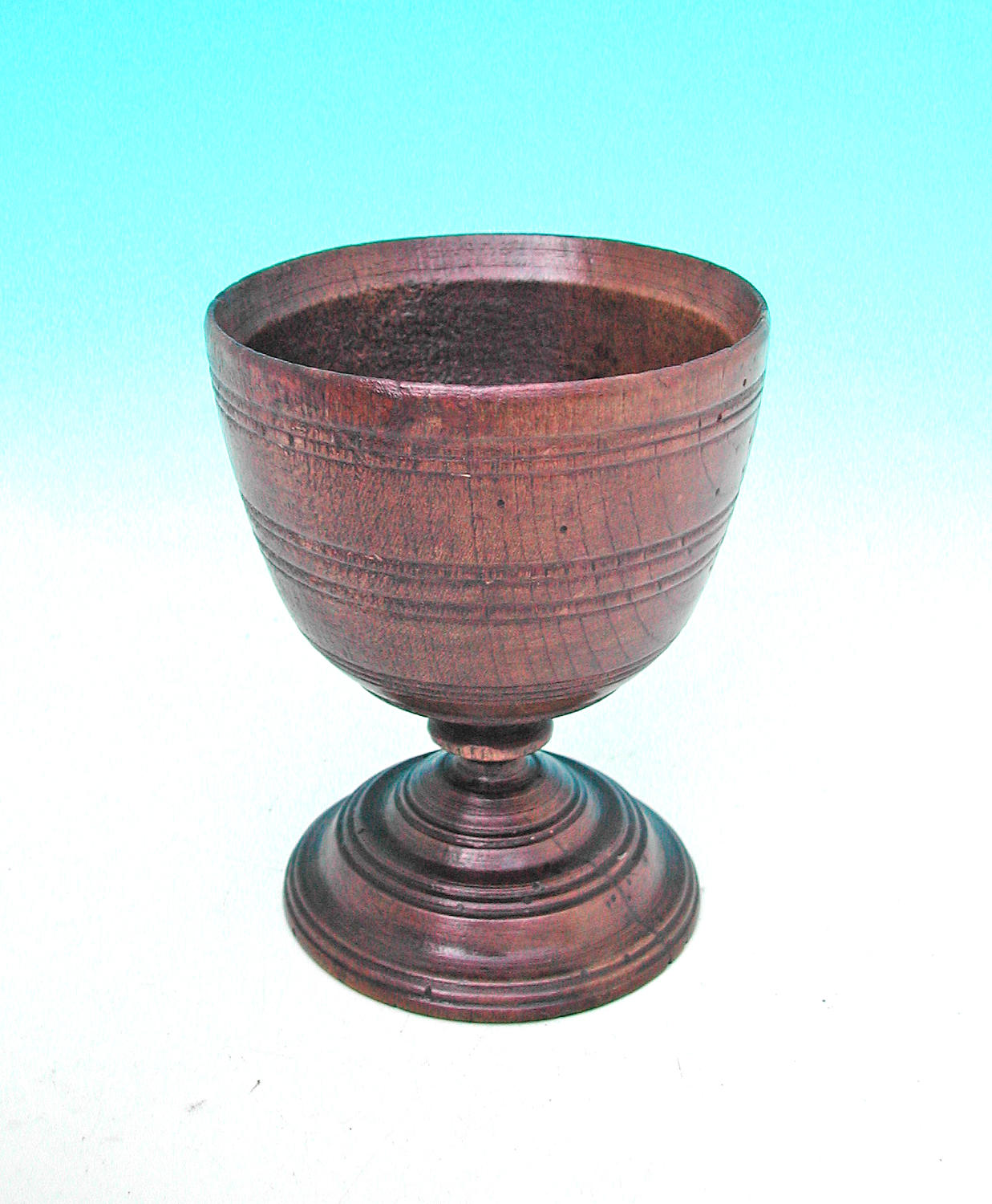 17thc Treen Beech Drinking Goblet .  English. C1690-C1700