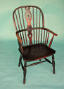Early 19thc Ash, Elm and Fruitwood High Hoop Back Windsor Chair - picture 1