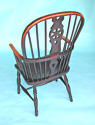 Early 19thc Ash, Elm and Fruitwood High Hoop Back Windsor Chair - picture 2