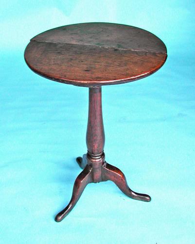 Antique 18thc Oak Furniture Tripod Table. English. C1740-60.