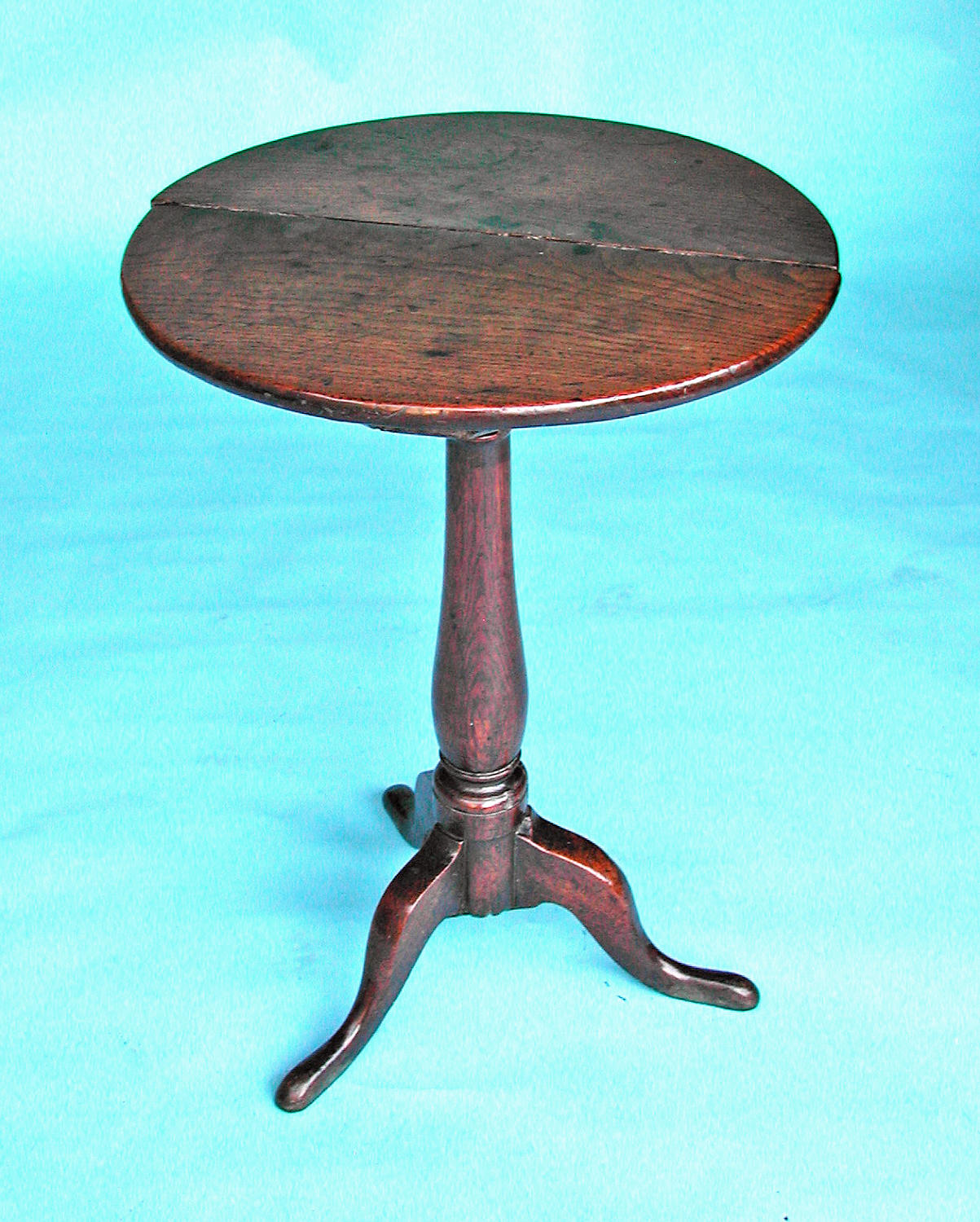 Antique 18thc Oak Furniture Tripod Table. English. C1740-60.