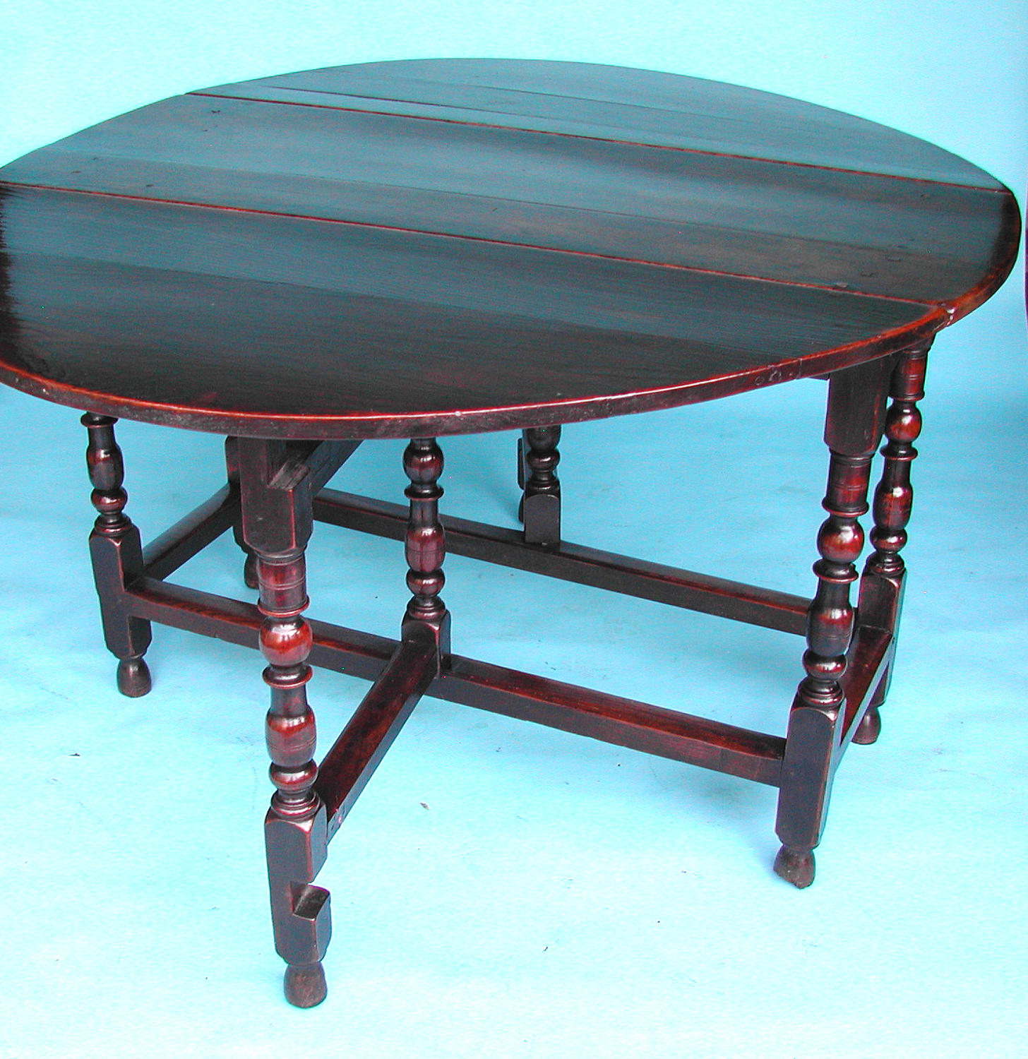 Antique 17thc Period Oak Gateleg Table.  English.  C1680-90.