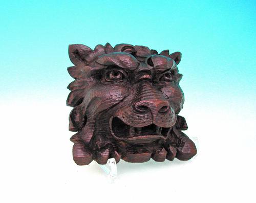 Antique 17thc Period Oak Carved Lions Head.   English. C1660-80