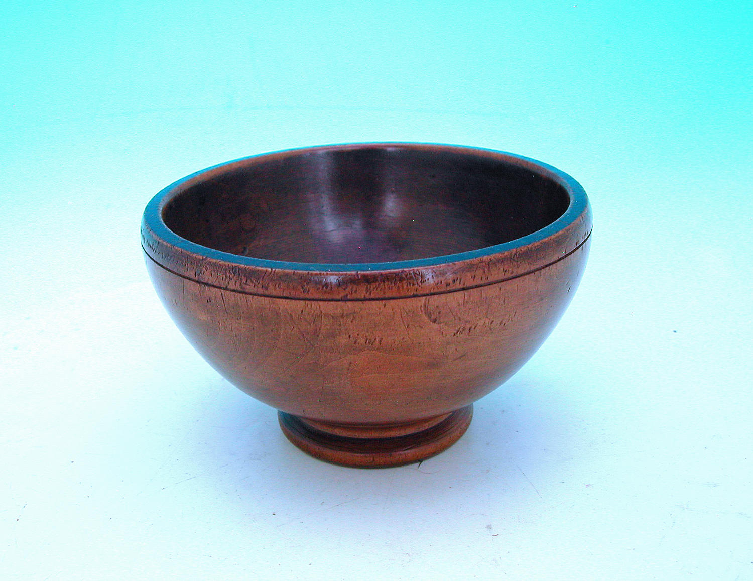 Mid 19thc Antique Treen Sycamore Footed Bowl.  English. C1840-60.