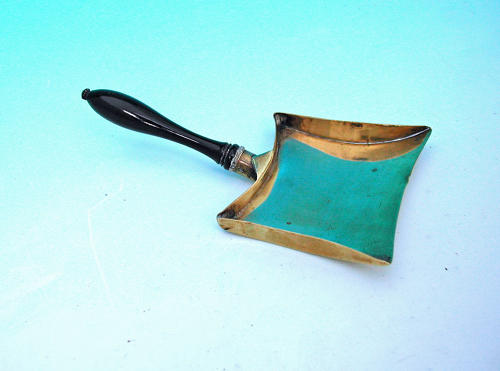 Antique 19thc Brass Apothecary Scoop / Shovel Measure. English. C1860-