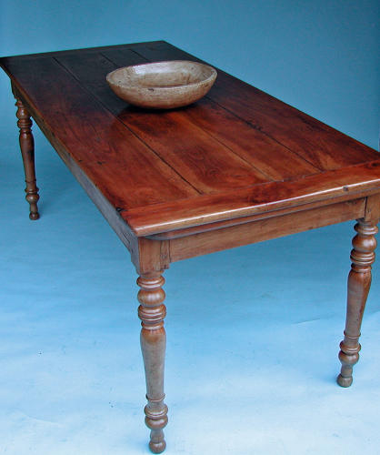 Antique 19thc Fruitwood Farmhouse Dining Table. French. C1860-80