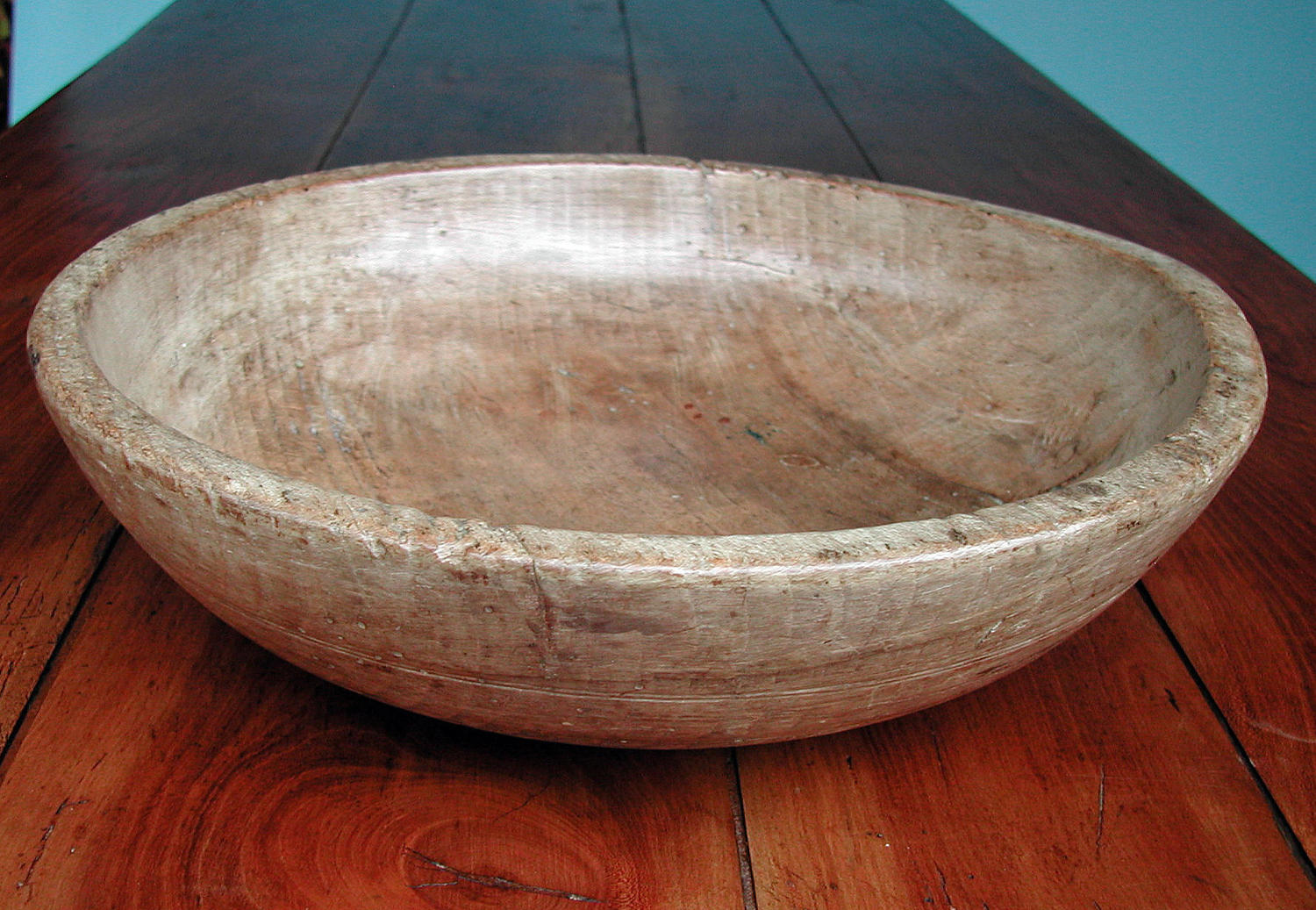 Antique Kitchenalia 19thc Beech Turned Dairy Bowl. English. C1840-60.