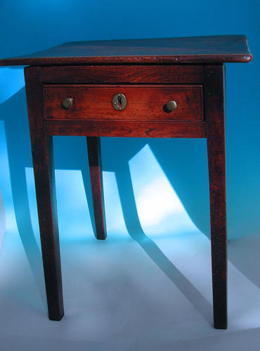 Antique 18thc English Elm Side Table. C1780-90.