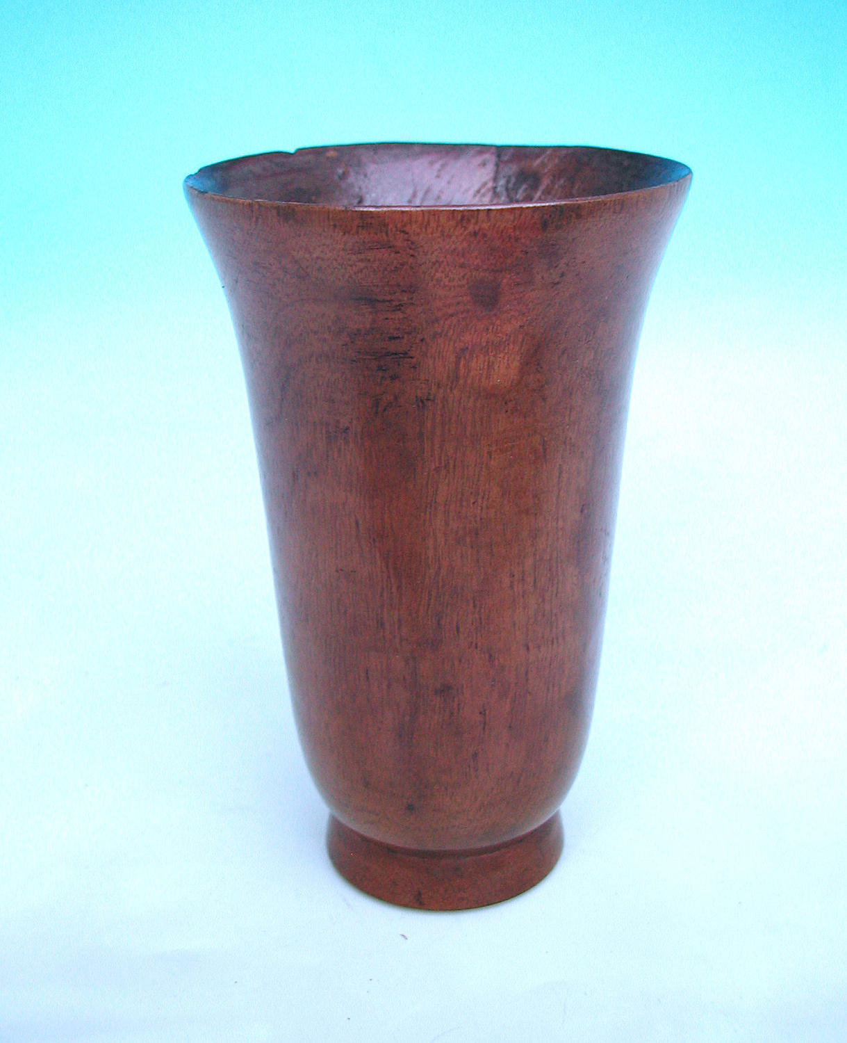 18thc Treen Turned Fruitwood Drinking Goblet. English. C1770-80.