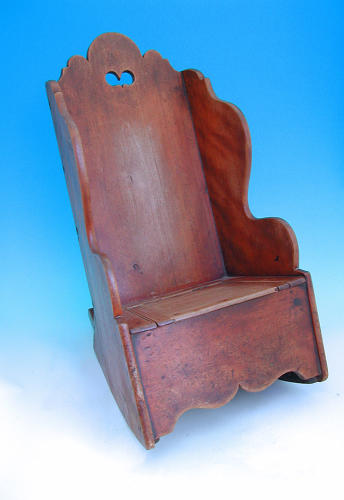 Antique Early 19thc Cedar Childs Rocking Chair.  Welsh. C1820-40.