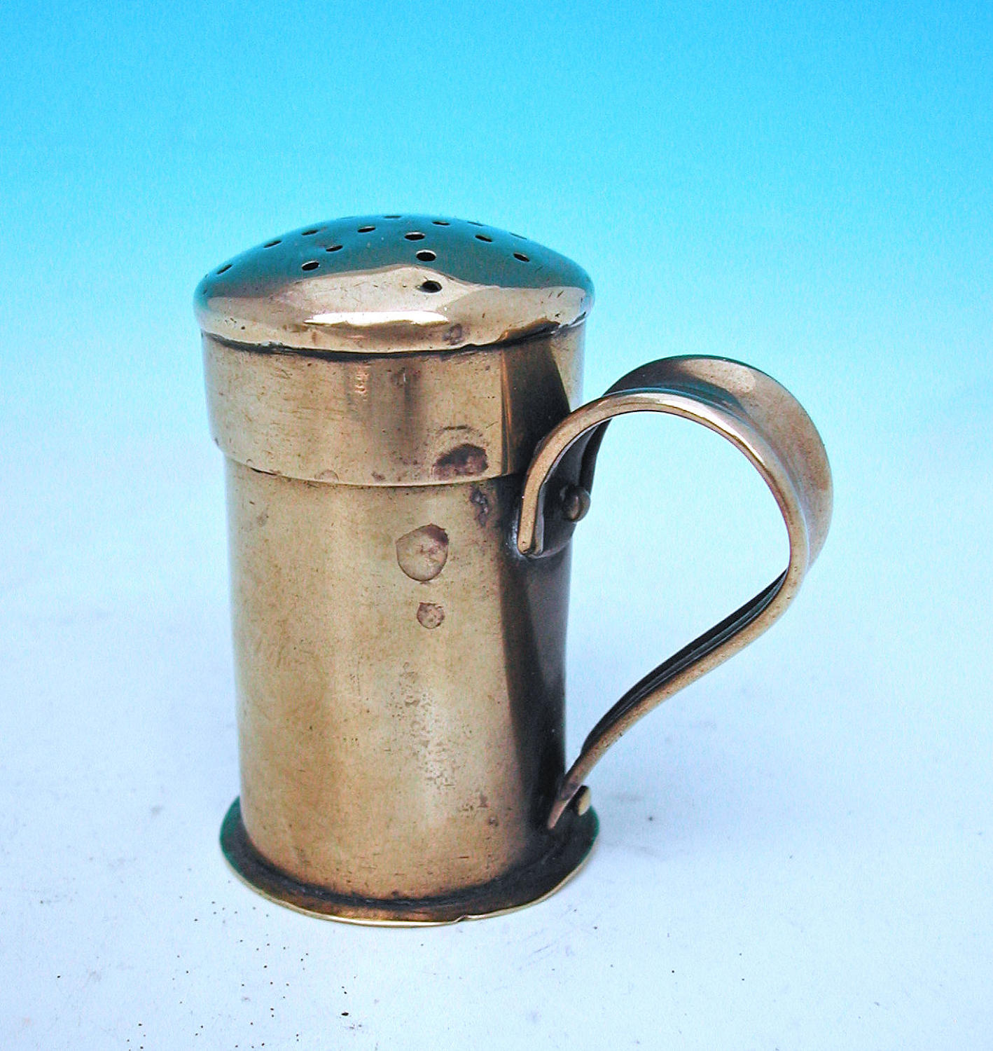 Early 19thc Brass Flour / Spice Dredger.  English. C1800-20.