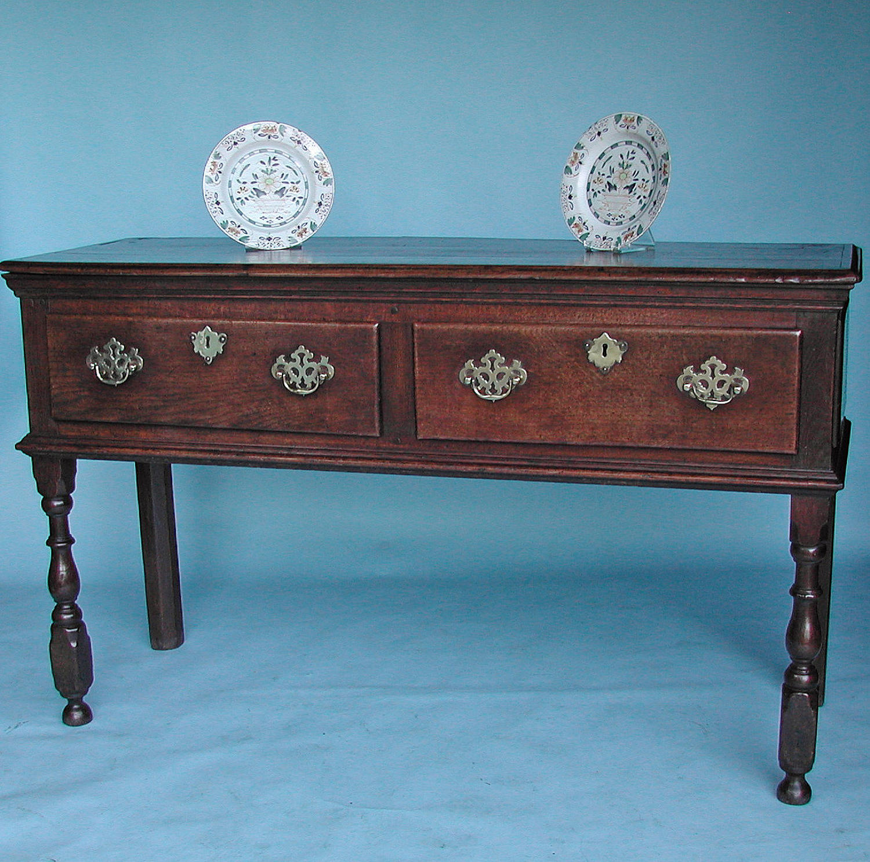 Late 17thc / Early 18thc Oak Open Low Dresser.  English. C1690-C1710