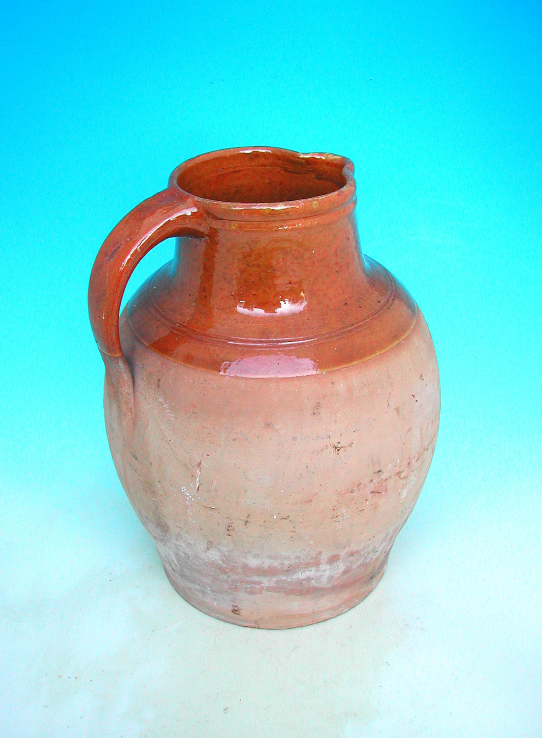 Antique 19thc West Country Stoneware Ale Jug. English. C1860-80.