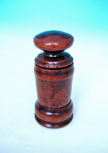 Antique Treen Early 19thc Birch Spice Grinder. Swedish. C1800-20