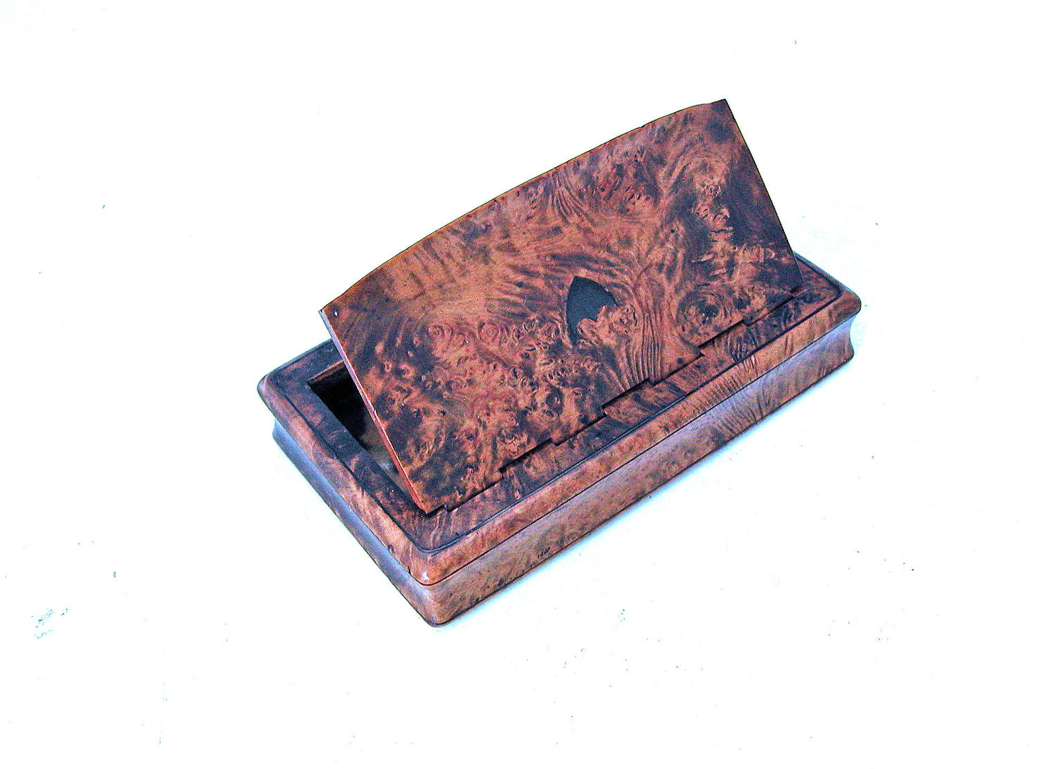 Antique 19thc Treen Masur Birch Snuff Box.  English. C1860-80.